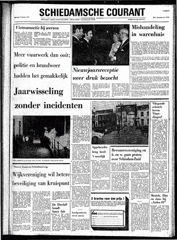 Rotterdamsch Nieuwsblad / Schiedamsche Courant / Rotterdams Dagblad / Waterweg / Algemeen Dagblad 1973
