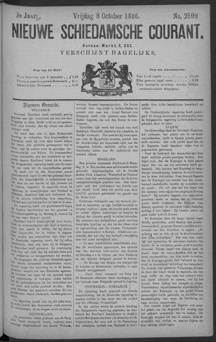 Nieuwe Schiedamsche Courant 1886-10-08