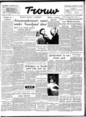 Trouw / De Rotterdammer 1958-08-09