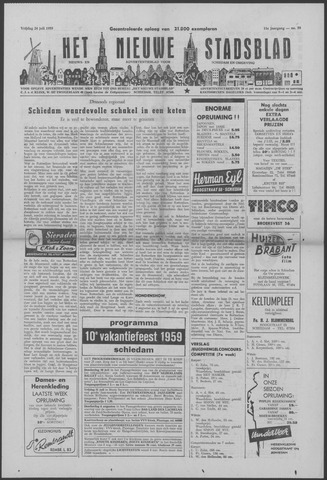 Het Nieuwe Stadsblad 1959-07-24