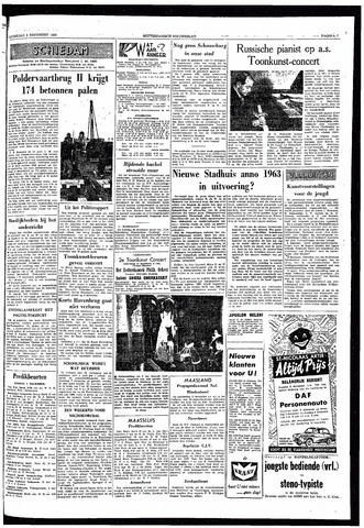 Rotterdamsch Nieuwsblad / Schiedamsche Courant / Rotterdams Dagblad / Waterweg / Algemeen Dagblad 1959-12-05