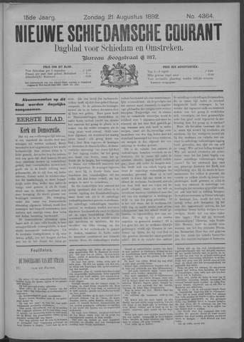 Nieuwe Schiedamsche Courant 1892-08-21
