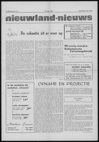 Nieuwland Nieuws 1964-08-20