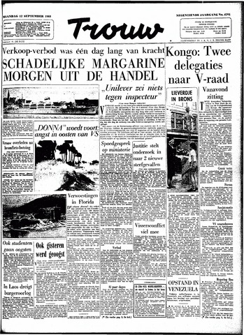 Trouw / De Rotterdammer 1960-09-12