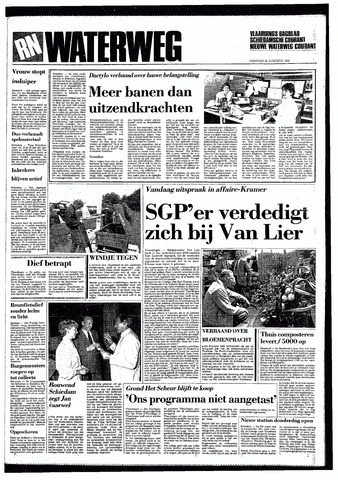 Rotterdamsch Nieuwsblad / Schiedamsche Courant / Rotterdams Dagblad / Waterweg / Algemeen Dagblad 1985-08-26