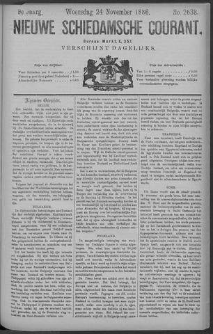 Nieuwe Schiedamsche Courant 1886-11-24