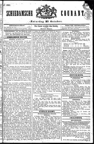 Schiedamsche Courant 1851-10-25