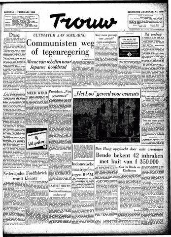 Trouw / De Rotterdammer 1958-02-04
