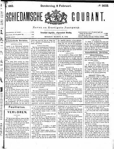 Schiedamsche Courant 1883-02-08