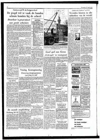 Rotterdamsch Parool / De Schiedammer 1955-04-27