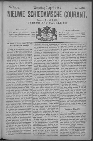 Nieuwe Schiedamsche Courant 1886-04-07