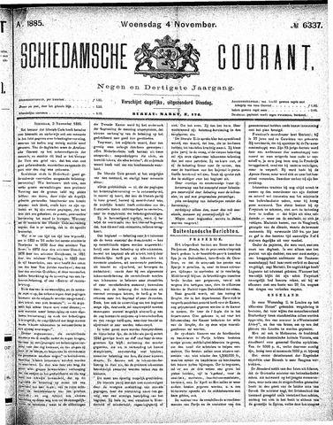 Schiedamsche Courant 1885-11-04