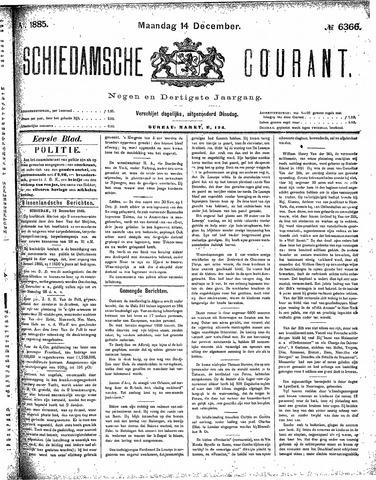Schiedamsche Courant 1885-12-14