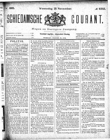 Schiedamsche Courant 1885-11-25