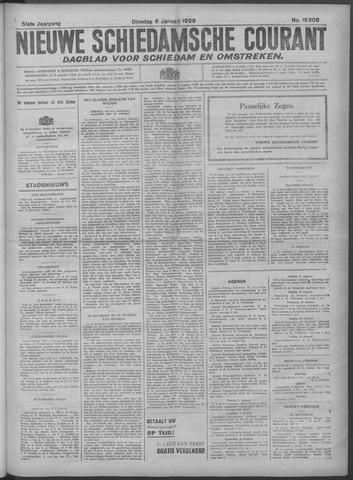 Nieuwe Schiedamsche Courant 1929-01-08