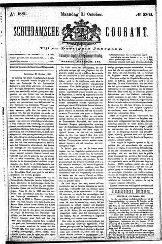 Schiedamsche Courant 1881-10-31