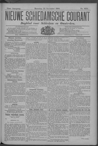 Nieuwe Schiedamsche Courant 1909-11-22