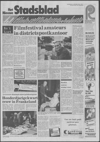 Het Nieuwe Stadsblad 1984-10-10