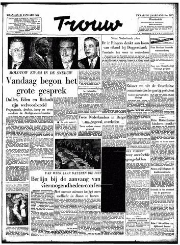 Trouw / De Rotterdammer 1954-01-25