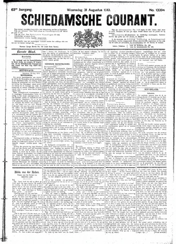 Schiedamsche Courant 1910-08-31