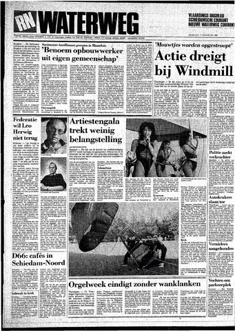 Rotterdamsch Nieuwsblad / Schiedamsche Courant / Rotterdams Dagblad / Waterweg / Algemeen Dagblad 1987-08-17