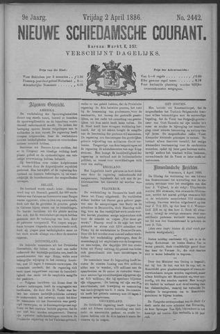 Nieuwe Schiedamsche Courant 1886-04-02