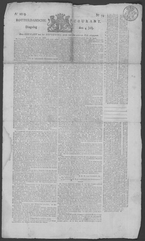 Rotterdamse Courant 1815-07-04