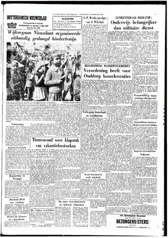 Rotterdamsch Nieuwsblad / Schiedamsche Courant / Rotterdams Dagblad / Waterweg / Algemeen Dagblad 1966-08-03