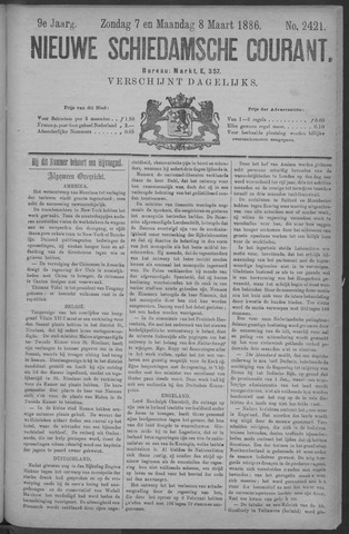 Nieuwe Schiedamsche Courant 1886-03-08