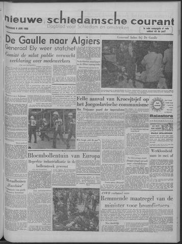 Nieuwe Schiedamsche Courant 1958-06-04