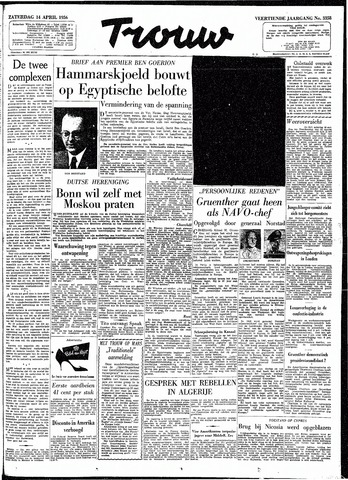 Trouw / De Rotterdammer 1956-04-14