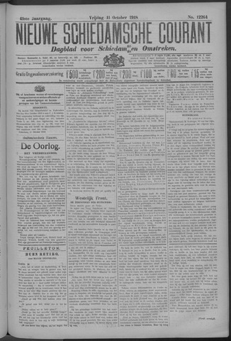 Nieuwe Schiedamsche Courant 1918-10-11