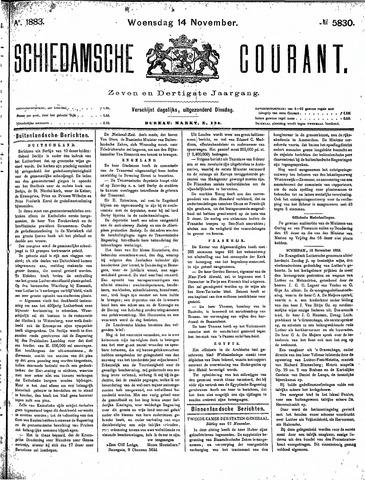 Schiedamsche Courant 1883-11-14
