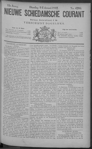 Nieuwe Schiedamsche Courant 1892-02-09
