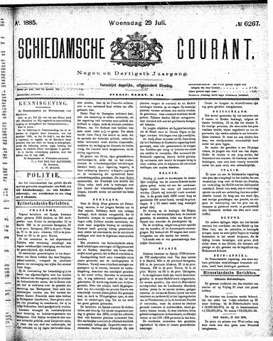 Schiedamsche Courant 1885-07-29