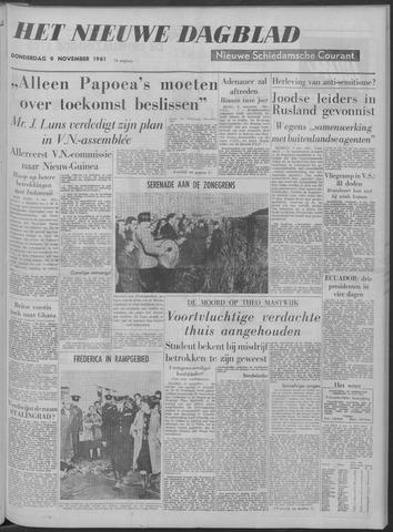 Nieuwe Schiedamsche Courant 1961-11-09