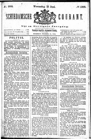 Schiedamsche Courant 1881-06-22