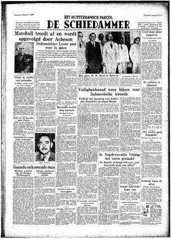 Rotterdamsch Parool / De Schiedammer 1949-01-08