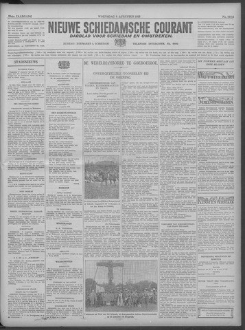 Nieuwe Schiedamsche Courant 1933-08-09