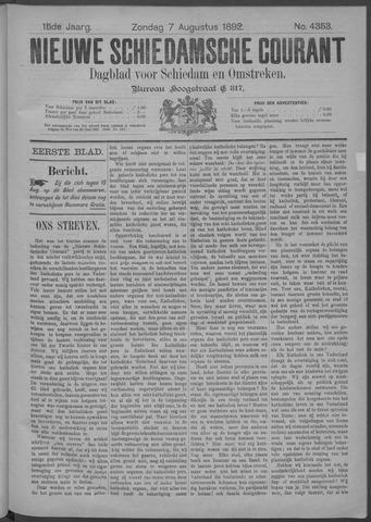 Nieuwe Schiedamsche Courant 1892-08-07