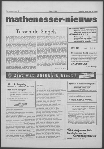 Mathenesser Nieuws 1964-04-09