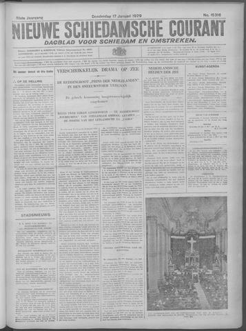 Nieuwe Schiedamsche Courant 1929-01-17