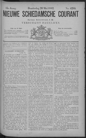 Nieuwe Schiedamsche Courant 1892-05-26