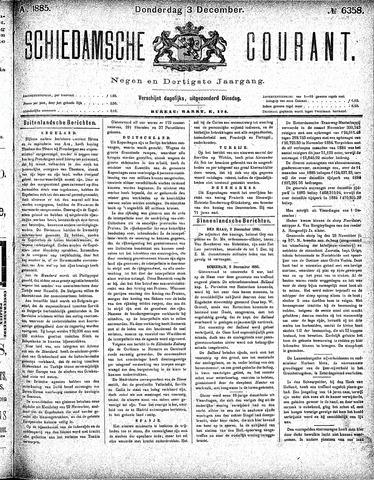 Schiedamsche Courant 1885-12-03