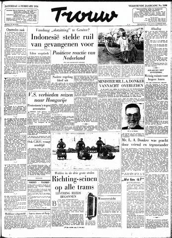 Trouw / De Rotterdammer 1956-02-04