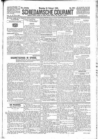 Schiedamsche Courant 1931-02-16