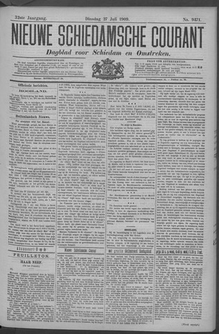 Nieuwe Schiedamsche Courant 1909-07-27