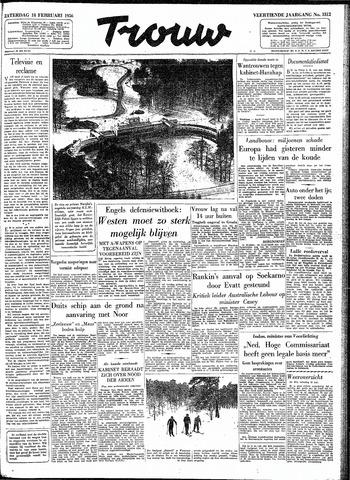 Trouw / De Rotterdammer 1956-02-18