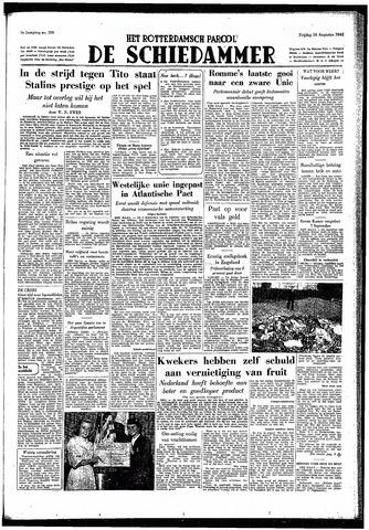 Rotterdamsch Parool / De Schiedammer 1949-08-26