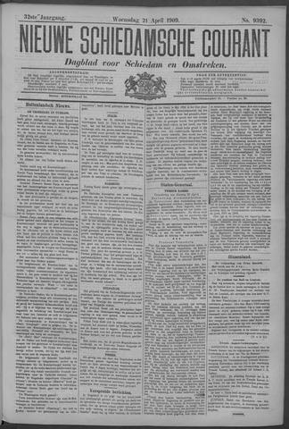 Nieuwe Schiedamsche Courant 1909-04-21